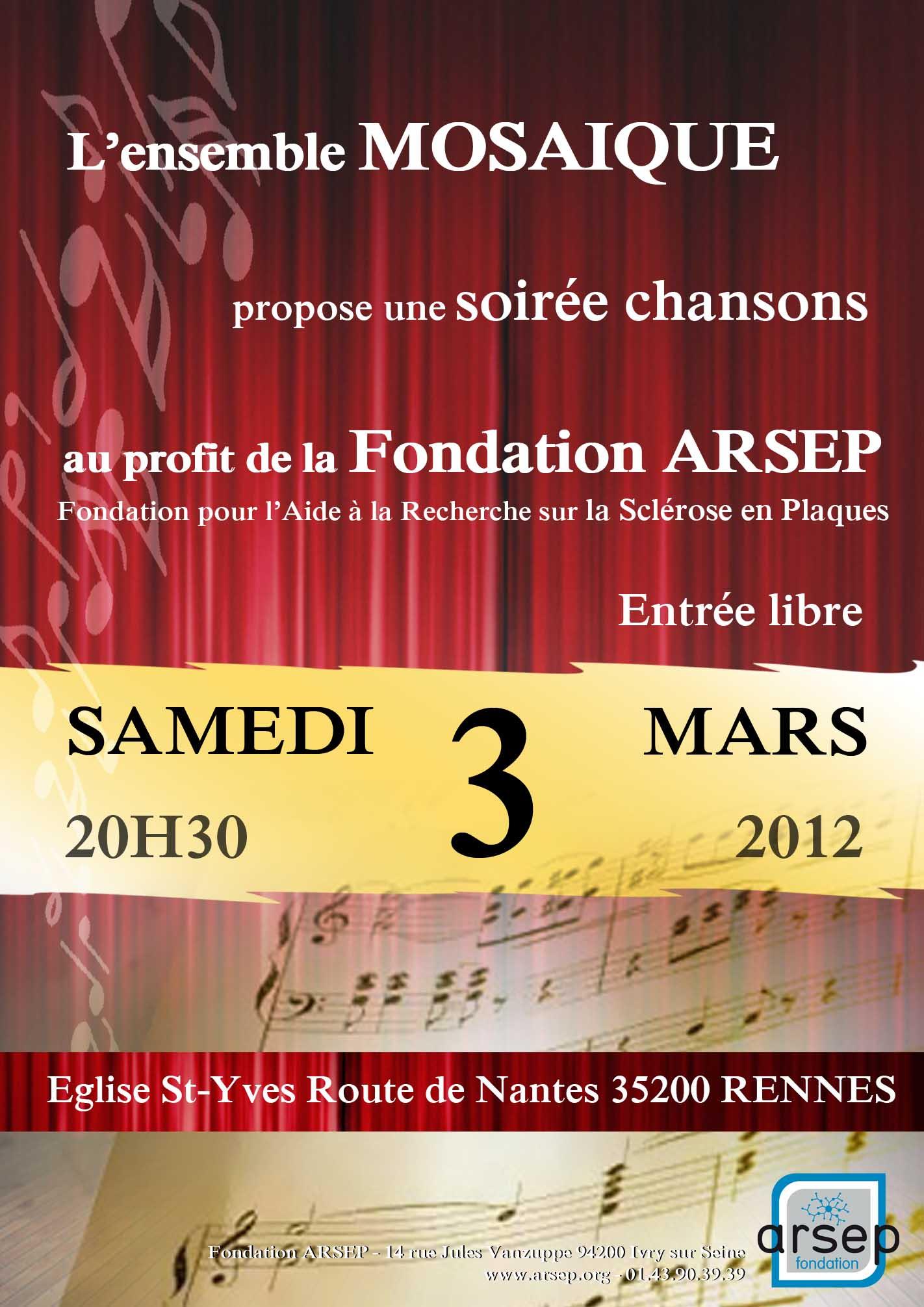 CONCERT Mosaïque 3 mars 2012 - RENNES Affiche21