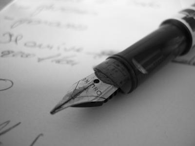ecrire lettre courrier stylo