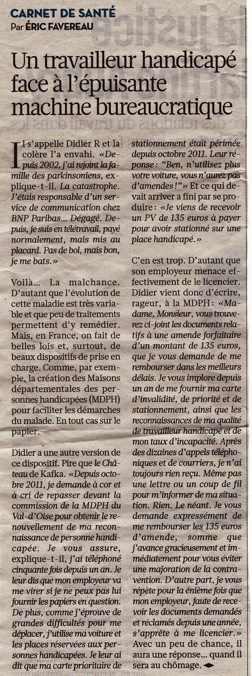 MDPH - Travailleur Handicapé - Libération du 9 octobre 2012 dans !! HANDICAP et TRAVAIL !! travailleur-handicape-combat-mdph-liberation-du-9-octobre-2012