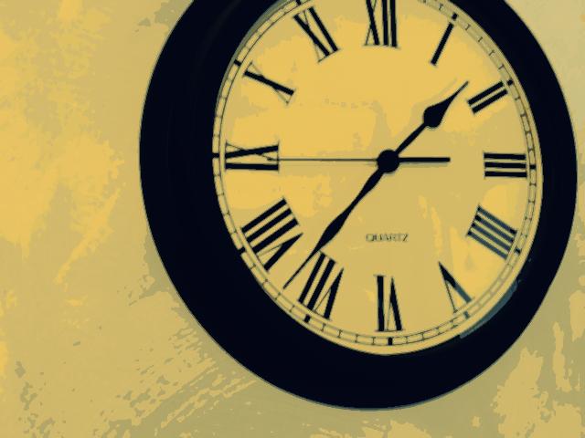 Horloge montre tourne temps passe