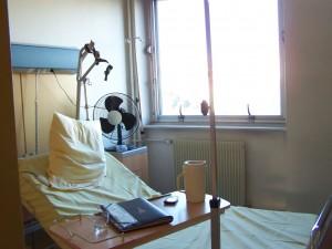 hôpital poussee hospitalisation SEP